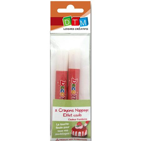 Crayons de nappage - Effet coulis framboise