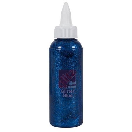 Glitz It - Colle Glitter - Bleu Royal - 120 ml