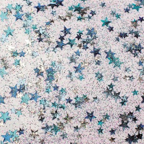 Glitter Glue - Etoiles bleues - 53 ml