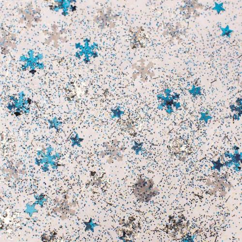 Glitter Glue - Neige bleue et argentée - 53 ml