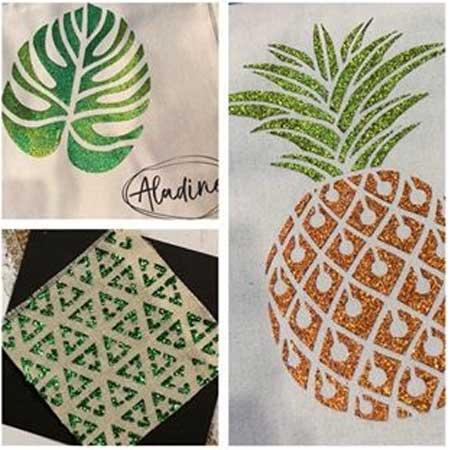 Peinture paillettes Izink Diamond pêche - 80 ml
