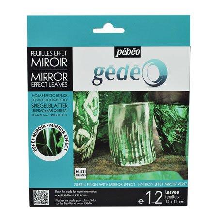 Feuille à dorer - Miroir vert - 12 feuilles
