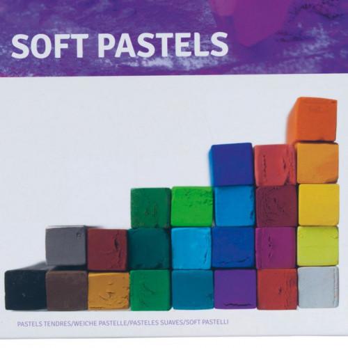 24 Pastels secs carrés
