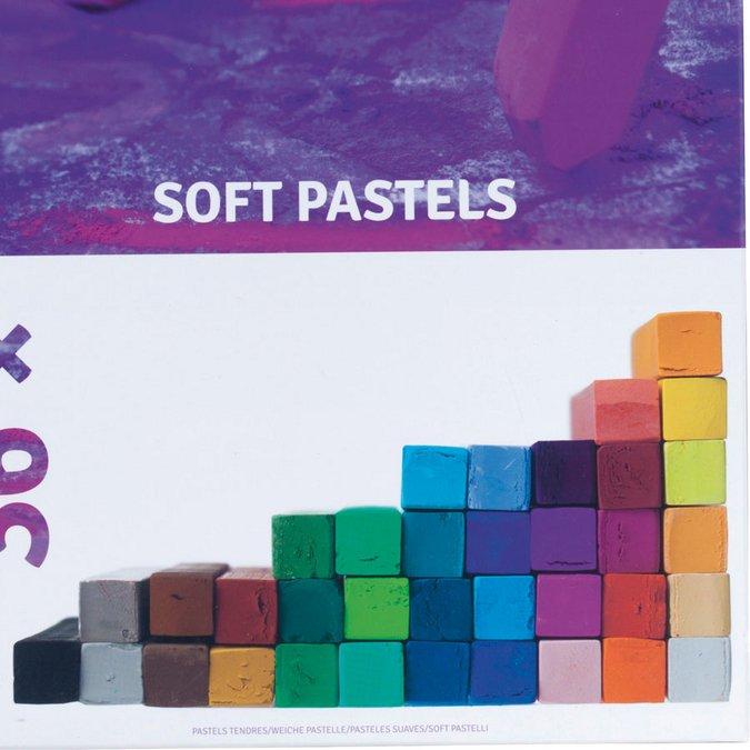 36 Pastels secs carrés