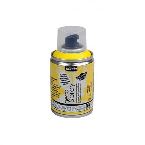 DecoSpray - Peinture en bombe - 100 ml - jaune