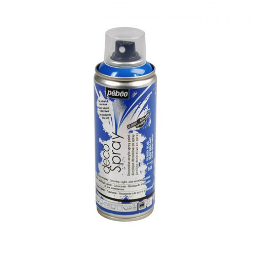 DecoSpray - Peinture en bombe - 200 ml - Brillant Bleu