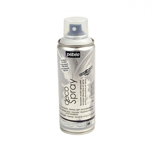 DecoSpray - Peinture en bombe - 200 ml - Brillant Gris