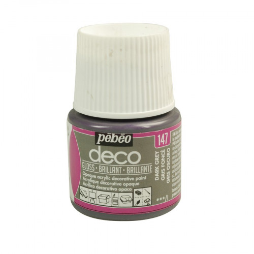 PBO déco brillant - Gris Foncé 45 ml - couleur 147