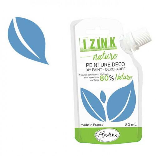 Peinture déco Izink Nature bleu azur - 80 ml