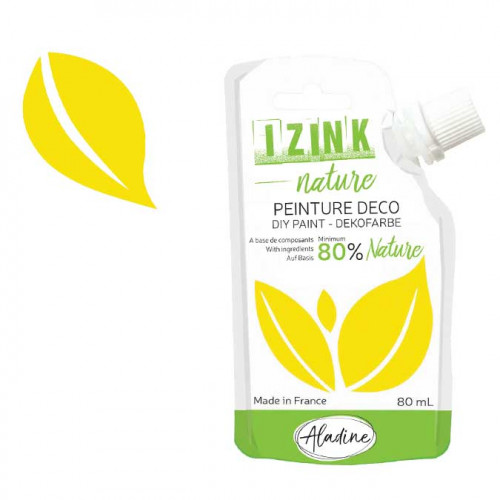 Peinture déco Izink Nature jaune citron - 80 ml