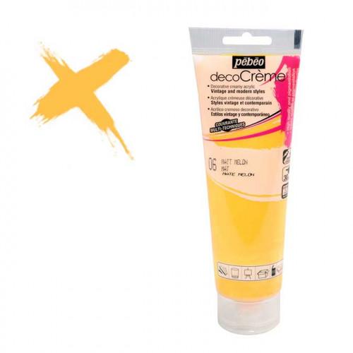 Peinture acrylique decoCrème melon - 120 ml