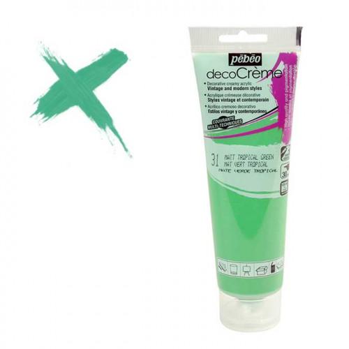Peinture acrylique decoCrème vert tropical - 120 ml