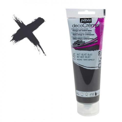 Peinture acrylique decoCrème noir velvet - 120 ml
