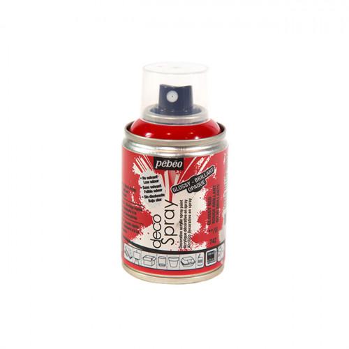 Peinture en bombe DecoSpray rouge brillant - 100 ml
