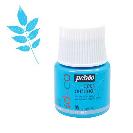 P.BO déco - Déco Outdoor - Turquoise mat - couleur 05