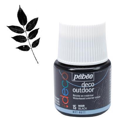 P.BO déco - Déco Outdoor - Noir mat - couleur 15