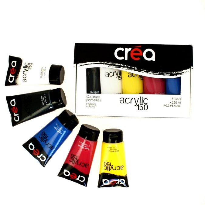 Acrylic  - Set de 5 tubes d'acrylique fine de 150 ml