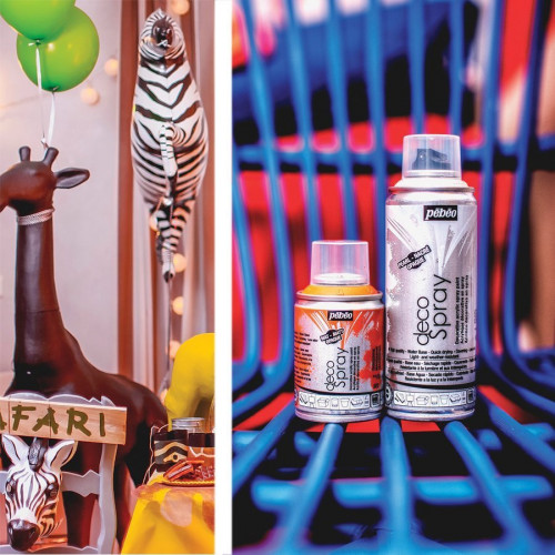 DecoSpray - Peinture en bombe - 100 ml - Argent Pailleté