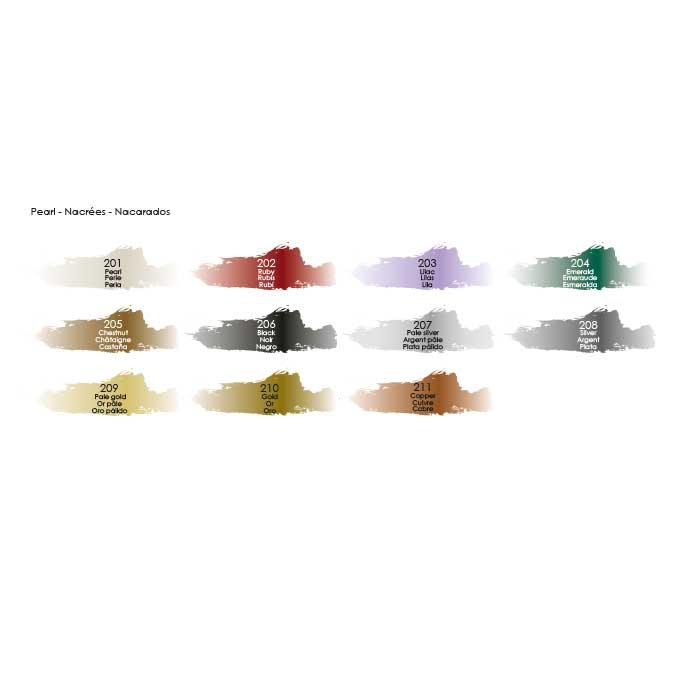 Peinture acrylique decoCrème nacre rubis - 120 ml