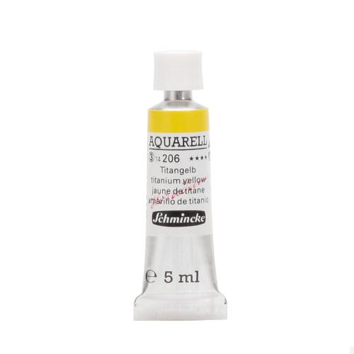 Peinture aquarelle Horadam 5 ml extra-fine 206 - Jaune de titane