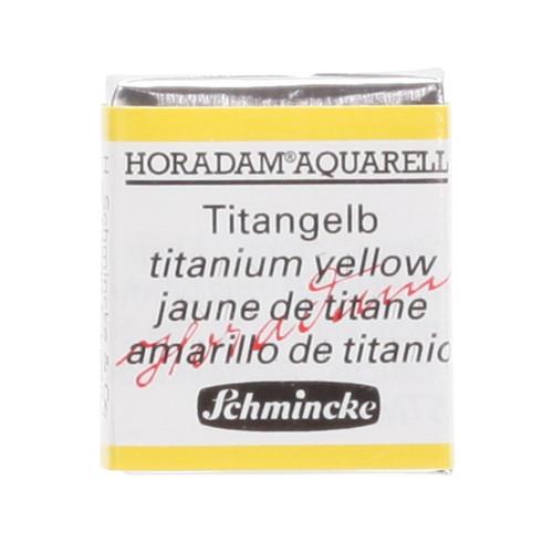 Peinture aquarelle Horadam demi-godet extra-fine 206 - Jaune de titane