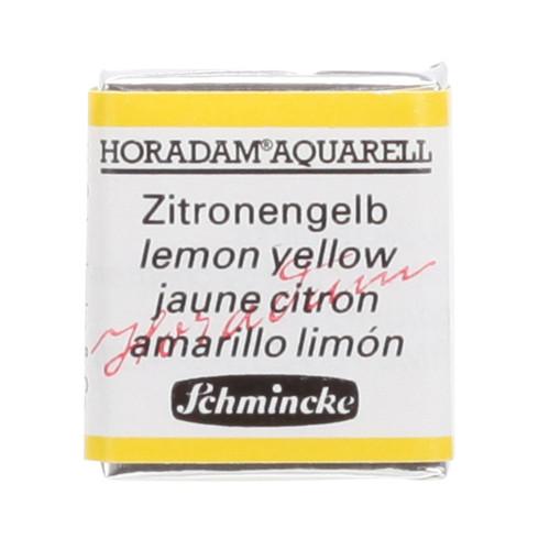 Peinture aquarelle Horadam demi-godet extra-fine 215 - Jaune citron