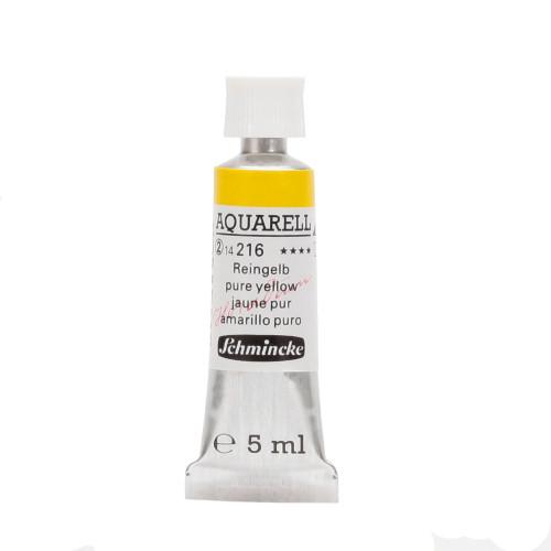 Peinture aquarelle Horadam 5 ml extra-fine 216 - Jaune pur