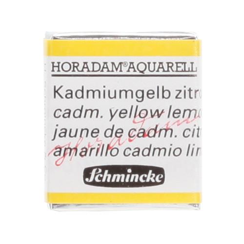 Peinture aquarelle Horadam demi-godet extra-fine 223 - Jaune de cadmium citron