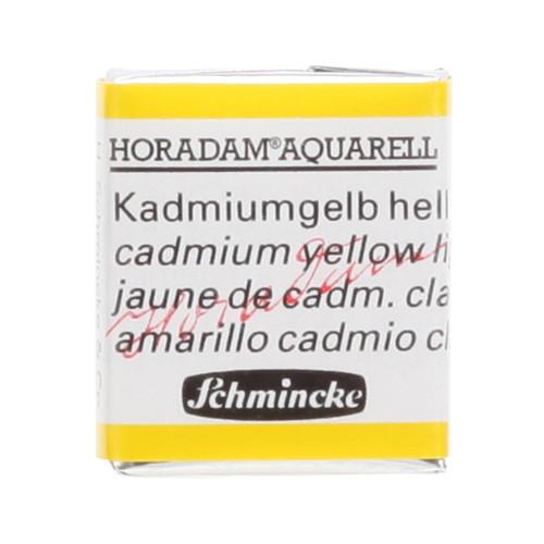 Peinture aquarelle Horadam demi-godet extra-fine 224 - Jaune de cadmium clair