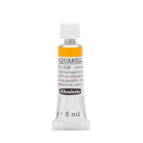Peinture aquarelle Horadam 5 ml extra-fine 226 - Jaune de cadmium foncé