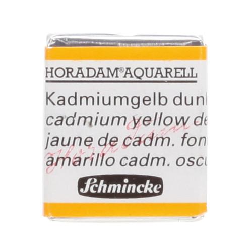 Peinture aquarelle Horadam demi-godet extra-fine 226 - Jaune de cadmium foncé