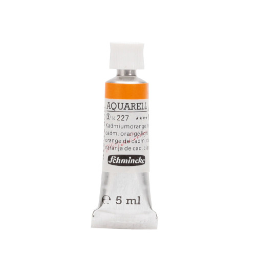 Peinture aquarelle Horadam 5 ml extra-fine 227 - Orange de cadmium clair
