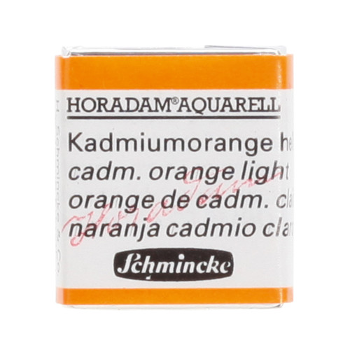 Peinture aquarelle Horadam demi-godet extra-fine 227 - Orange de cadmium clair