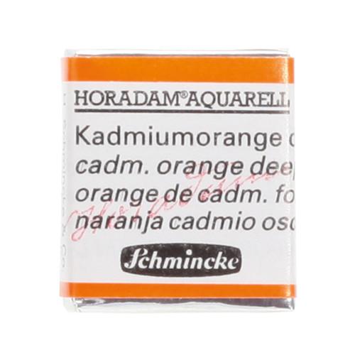 Peinture aquarelle Horadam demi-godet extra-fine 228 - Orange de cadmium foncé