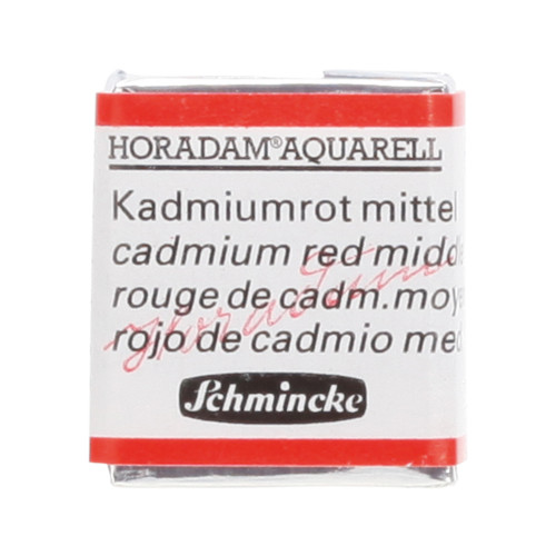 Peinture aquarelle Horadam demi-godet extra-fine 347 - Roude de cadmium moyen