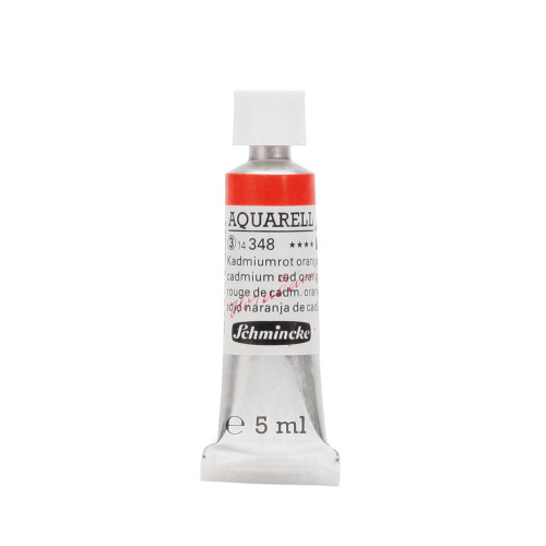 Peinture aquarelle Horadam 5 ml extra-fine 348 - Rouge de cadmium orange