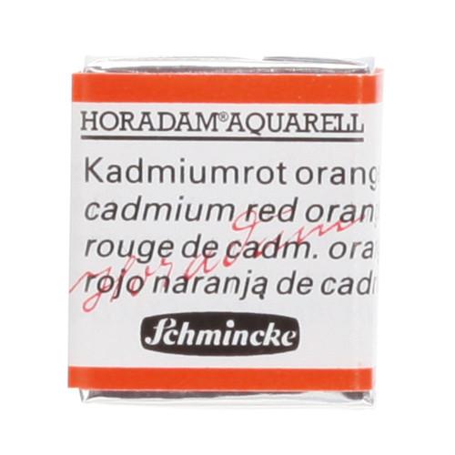 Peinture aquarelle Horadam demi-godet extra-fine 348 - Rouge de cadmium orange