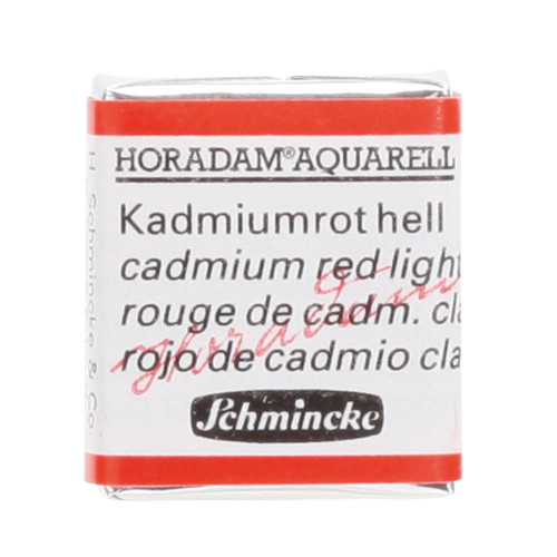 Peinture aquarelle Horadam demi-godet extra-fine 349 - Rouge de cadmium clair