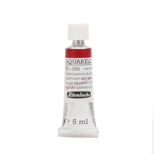 Peinture aquarelle Horadam 5 ml extra-fine 350 - Rouge de cadmium foncé