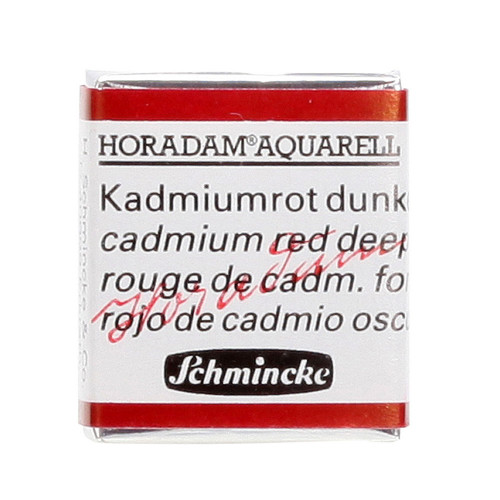 Peinture aquarelle Horadam demi-godet extra-fine 350 - Rouge de cadmium foncé