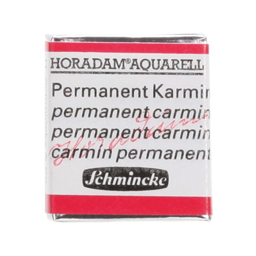 Peinture aquarelle Horadam demi-godet extra-fine 353 - Carmin permanent