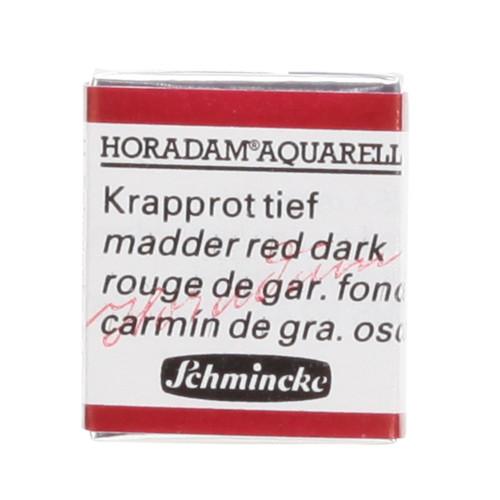 Peinture aquarelle Horadam demi-godet extra-fine 354 - Rouge de garance foncé