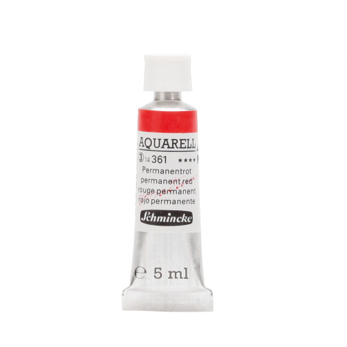 Peinture aquarelle Horadam 5 ml extra-fine 361 - Rouge permanent