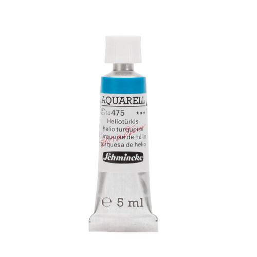 Peinture aquarelle Horadam 5 ml extra-fine 475 - Turquoise hélio