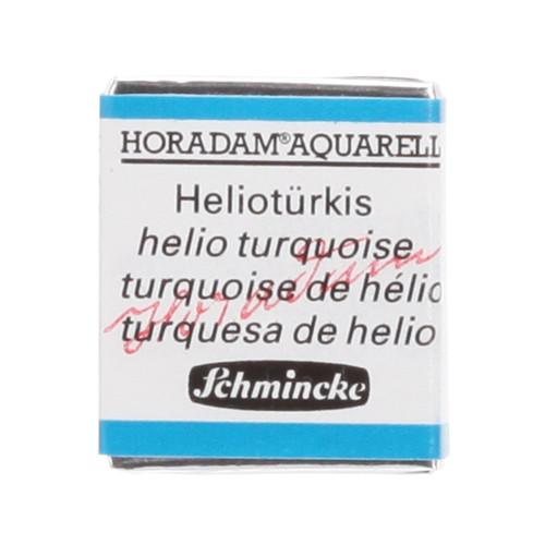 Peinture aquarelle Horadam demi-godet extra-fine 475 - Turquoise hélio