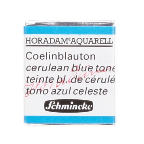 Peinture aquarelle Horadam demi-godet extra-fine 481 - Teinte bleu de cerulem