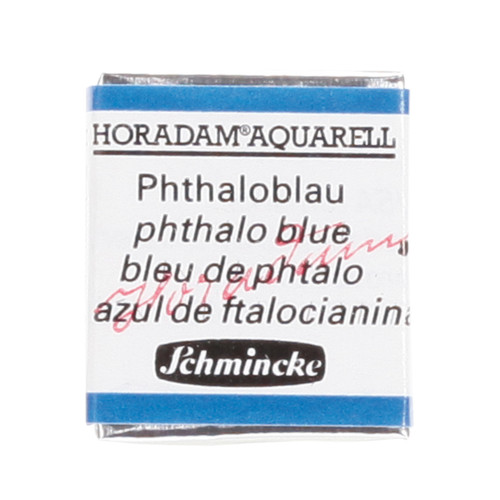 Peinture aquarelle Horadam demi-godet extra-fine 484 - Bleu phtalo
