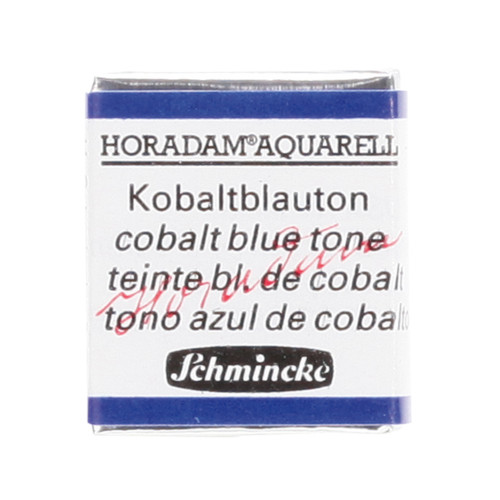 Peinture aquarelle Horadam demi-godet extra-fine 486 - Teinte bleu de cobalt