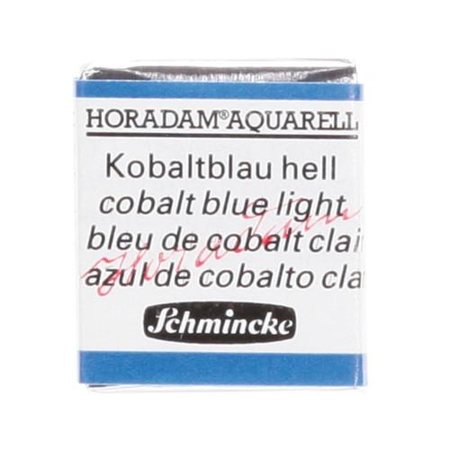 Peinture aquarelle Horadam demi-godet extra-fine 487 - Bleu de cobalt clair