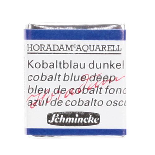 Peinture aquarelle Horadam demi-godet extra-fine 488 - Bleu de cobalt foncé